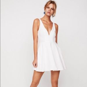 Deep V-wire Fit and Flare Skort Dress